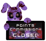 Bonnie Point Commission Closed Stamp by BlueBismuth