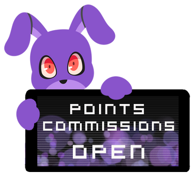 Bonnie Point Commission Open Stamp by BlueBismuth