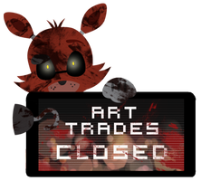Foxy Art Trades Closed Stamp by BlueBismuth