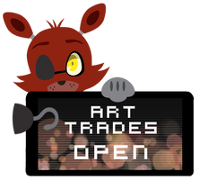 Foxy Art Trades Open Stamp by BlueBismuth