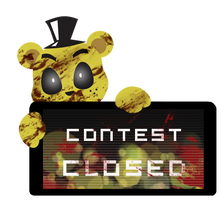 Golden Freddy Contest Closed Stamp by BlueBismuth