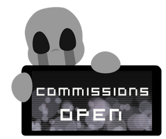 Dead Child Commissions OPEN Stamp by BlueBismuth