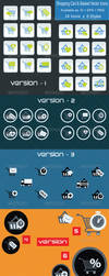 Ecommerce Shopping Cart and Basket Flat Icons Set by CURSORCH