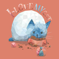 Polygon Eating Cat by Siriliya