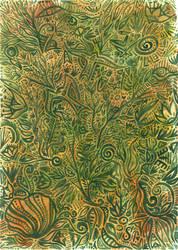 Green and orange by Siriliya