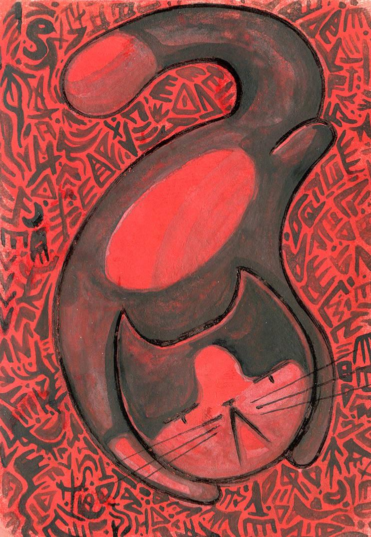 ACEO Red demon by Siriliya