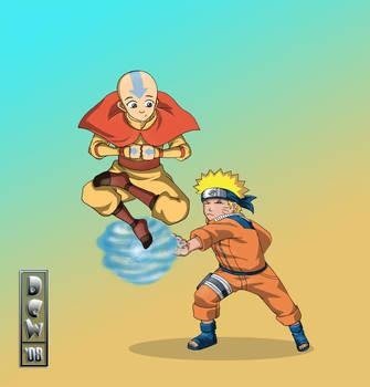 Naruto vs Avatar by free-energy03