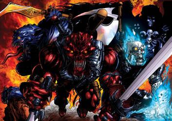 Les 4 Cavaliers de l'Apocalypse by tonydax