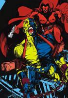 Devildark and Ghost lady by tonydax