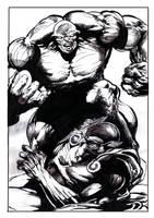 Gargantua vs Black Duke. by tonydax