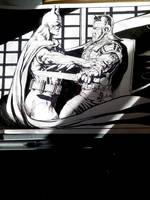 BATMAN vs ROMAIN by tonydax