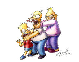 Celebrating With The Simpsons by WinkGuy1