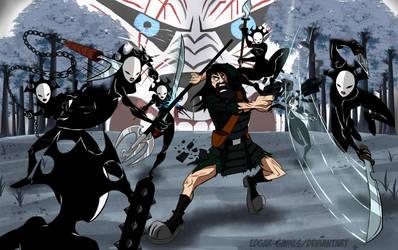 Samurai Jack and the daughters of Aku 2017 by Edgar-Games