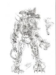 Nightmare Foxy The Necromorph/Desing+Sketch by Edgar-Games