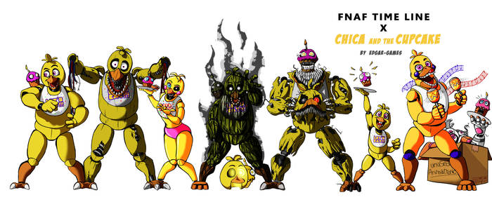 Chica and the CupCake FNAF (Time Line) by Edgar-Games