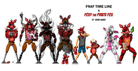 Foxy the Pirate Fox FNAF (Time Line) by Edgar-Games