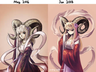 Art progress 2016-2018 by Guryfrog