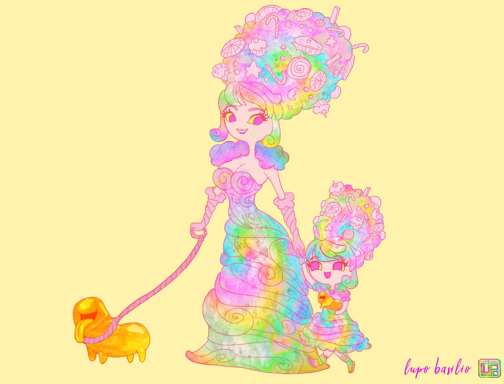 The Cotton Candy Queen by Lupo Basilio by LupoBasilio