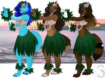 Amitta and Dancers by SarabinaART