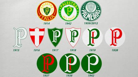 Escudos - Palmeiras by Panico747