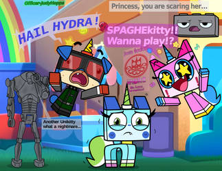 SPAGHE!kitty meets UNIKITTY! by Officer-JudyHopps