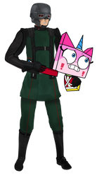 A scared HYDRA soldier with Princess Unikitty by Officer-JudyHopps