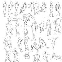 Human Poses by jingsketch
