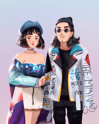 Seoul Fashion Week by jingsketch