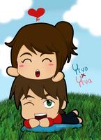 Yiya y Yiyo by Isux