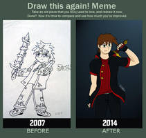 Draw This Again Meme: 7 Years :') by Isux