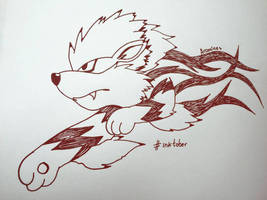 Arcanine Ink by Isux