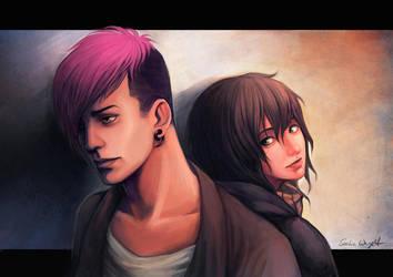 Floyd and Jari by SasuArt-SW