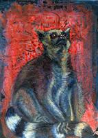 ring-tailed lemur by pinupsbykeeegan