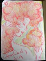 Cotton Candy Girl by pinupsbykeeegan