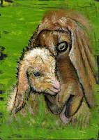 Goats by pinupsbykeeegan