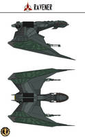 Ravener-Class Bird of Prey by Martechi