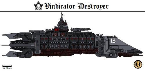 Vindicator Destroyer (Gahmuret Fleet) by Martechi