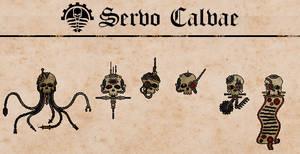 Cambrian Servo Skull Variants by Martechi