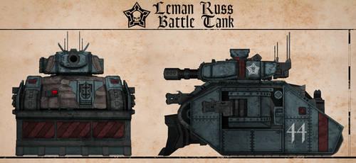 Leman Russ Battle Tank (Gahmuret) by Martechi