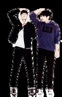 Jungkook and Taehyung Render by allaixa