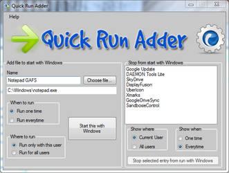 Quick Run Adder by gromichoafsystems