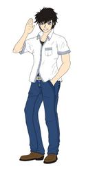 Character Comission: Kurosu Casual by RebiTora