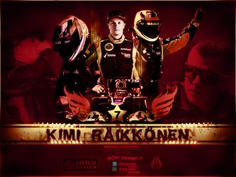 Kimi Raikkonen Large Art by pO9-AW