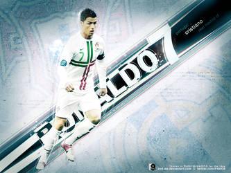 Cristiano Ronaldo Large Art by pO9-AW