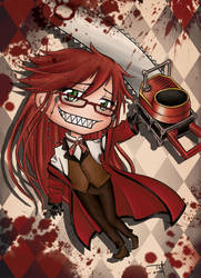 Chibi Grell by silvernomiko