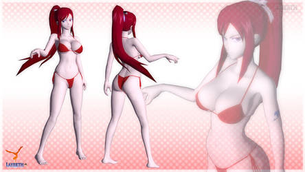 Erza Scarlet by Layerth-3D