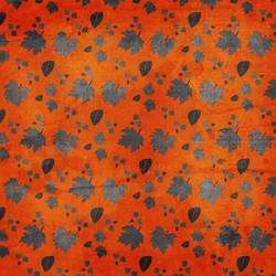 Silver Leaves  OrangeTexture 3 by rosebfischer