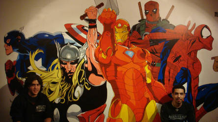 Marvel Wall by Pamanes14