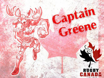 capitain greene canada rugby mascot by HaPoTi