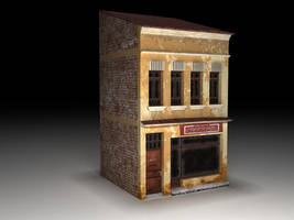 building _ low poly by ionutnicolaescu
